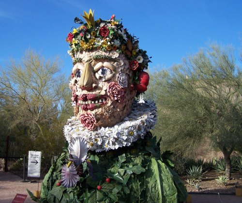 """Spring"" from ""Four Seasons"" by Philip Haas, exhibited at Desert Botanical Garden"