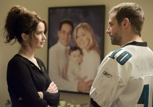 "Jennifer Lawrence (Tiffany) and Bradley Cooper (Pat) in ""Silver Linings Playbook"" from The Weinstein Company"