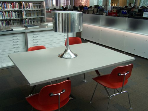 Sleek, modern design elements at South Mountain Community Library