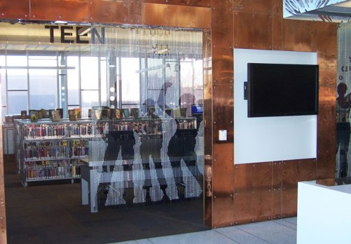 Entrance to the teen area at South Mountain Community Library