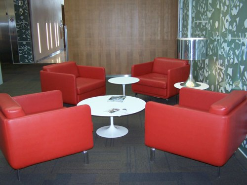 One of several seating options for small groups at South Mountain Community Library