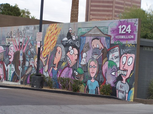 "Look for Fred Tieken's ""The Buzzz"" east of Jack and the Box at McDowell Rd. and 3rd Ave. in Phoenix"