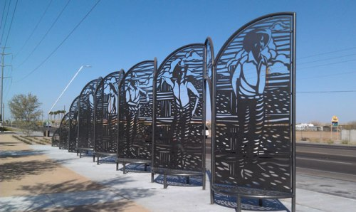 """""""In a Big Country"""" at the 27th Ave. & Baseline Rd. Park and Ride (Photo: City of Phoenix)"""