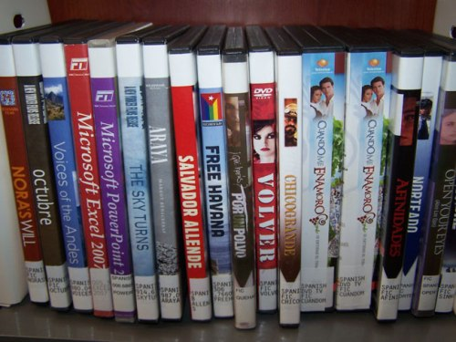 Small sampling of DVDs spotted during my last trip to the library