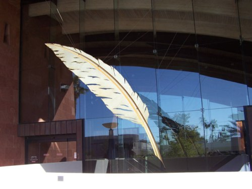 Entrance to the Scottsdale Public Library Civic Center branch