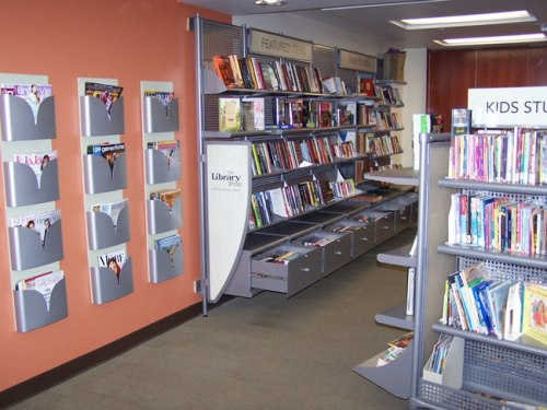 Library gift shop filled with books, magazines, gift items and much more